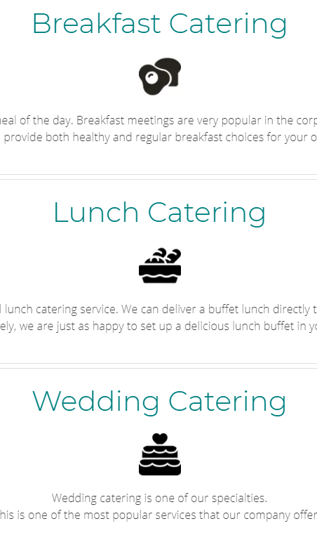 catering options